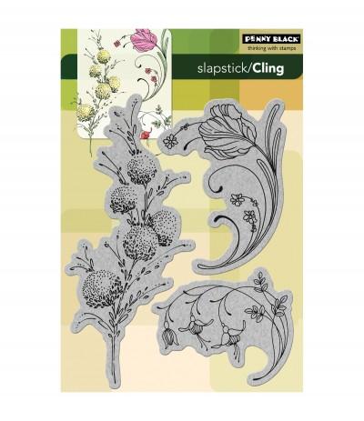 Delicate Florals Cling Stempel - Penny Black