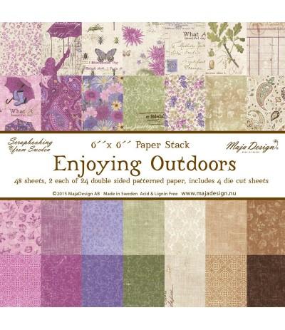 """Maja Design Scrapbooking Papier Enjoying Outdoors 6""""x6"""""""
