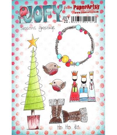 Jofy Stempelplatte Seasons Greetings