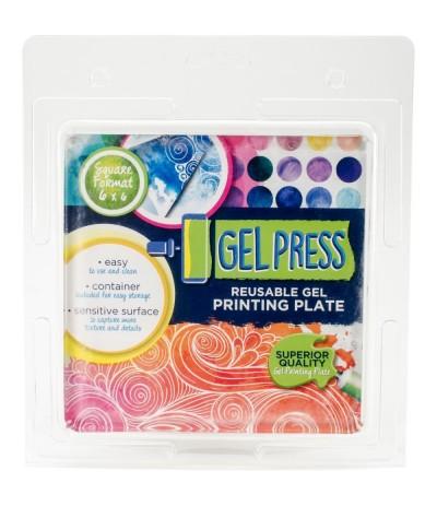 """Gel Druckplatte 6 x 6 """" - Gelpress"""