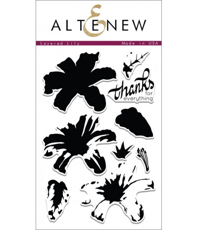 Layered Lily Clear Stamps Set - Altenew