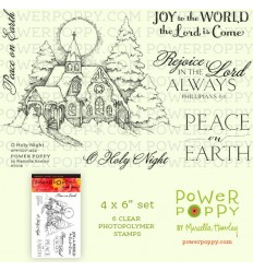 O Holy Night Clear Stamps - Power Poppy