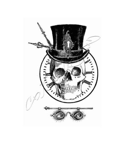 Squelette grunge Gummistempel unmontiert - Katzelkraft