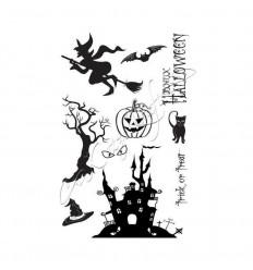 Halloween Gummistempel unmontiert - Katzelkraft