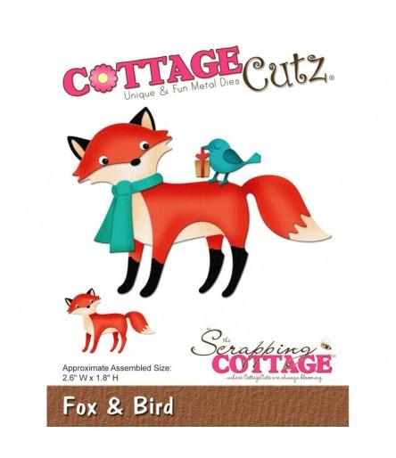 Stanzschablone Fox & Bird - Cottage Cutz