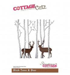 Stanzschablone Birch Tree & Deer - Cottage Cutz