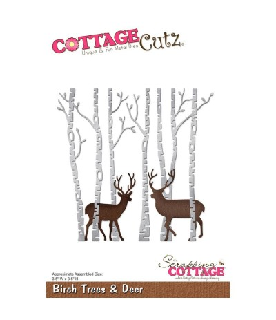 Stanzschablone Birch Tree & Deer - Cottage Cutz