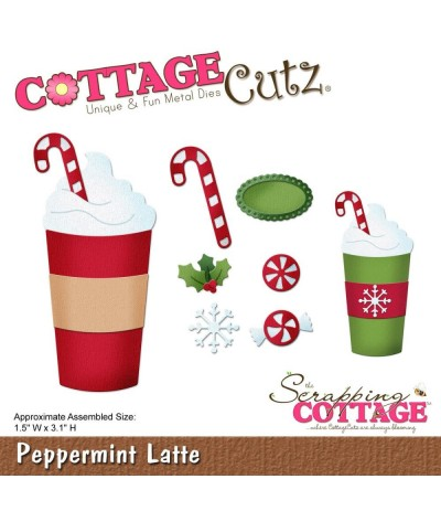 Stanzschablone Peppermint Latte - Cottage Cutz