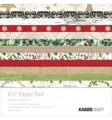 "Home for Christmas 6.5"" x 6.5 "" Scrapbooking Papier - Kaiser Craft"