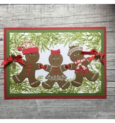 Stanzschablone Gingerbread Family - Cheery Lynn Designs