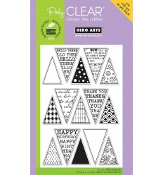 Friendly Flags Clear Stamps - Hero Arts