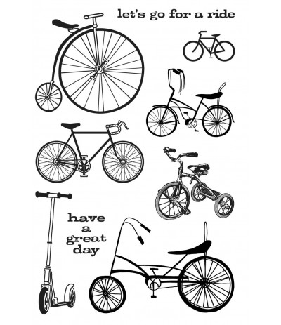 JOY Ride Clear Stempel - Hero Arts