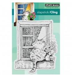 The Lookout Cling Stempel - Penny Black