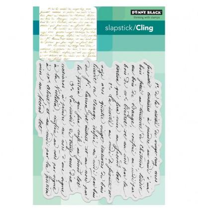 Script Cling Stempel - Penny Black