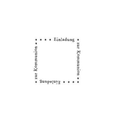 Rahmen einladung Kommunion Stempel