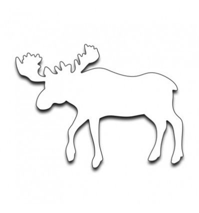 Moose Stanzschablone - Penny Black