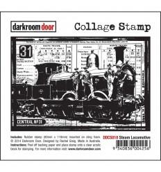 Steam Locomotive Cling Stempel - Darkroom Door