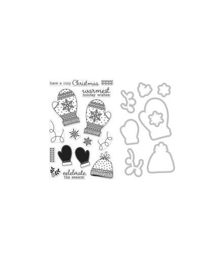 Holiday Mittens Clear Stamps & Stanzschablonen - Hero Arts