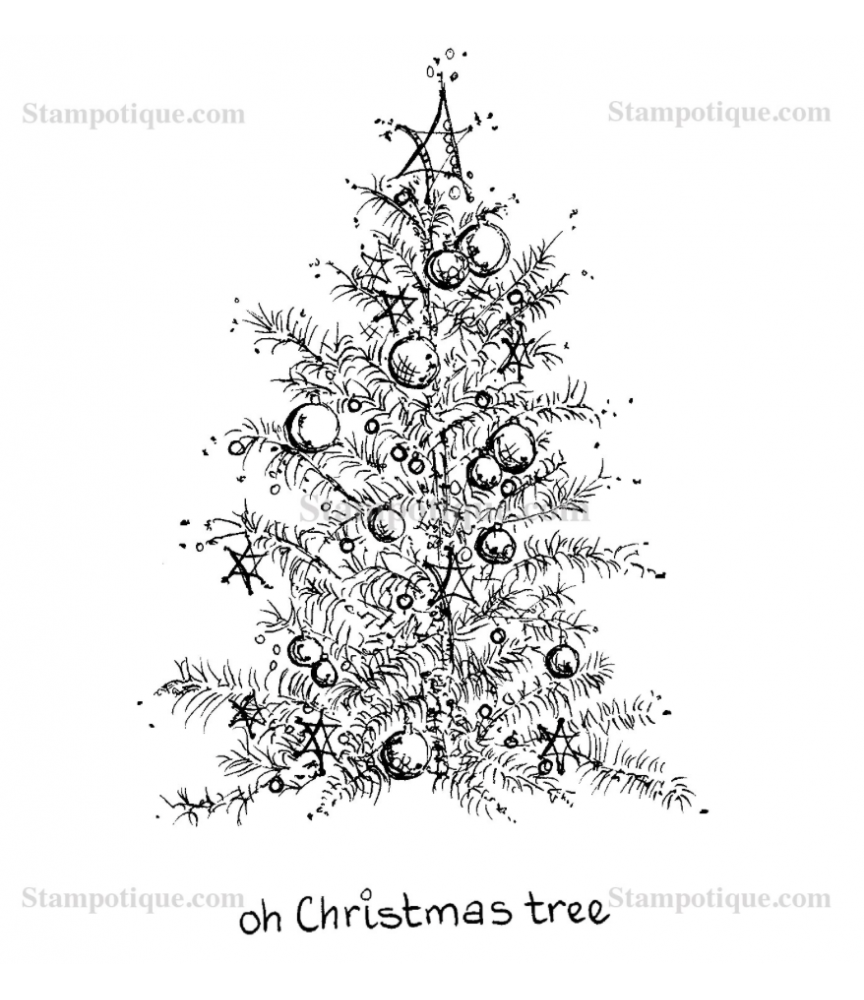 Oh Christmas Tree - Stampotique - Big Time Stempel