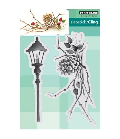 Cling Stempel Cones & Berries - Penny Black