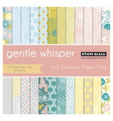 "Gentle Whisper Scrapbooking Papier 6""x6"" - Penny Black"