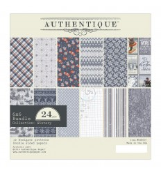 "Wintery Collection Scrapbooking Papier 6""x6"" - Authentique"