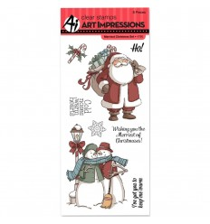 Merriest Christmas Clear Stamps - Art Impressions