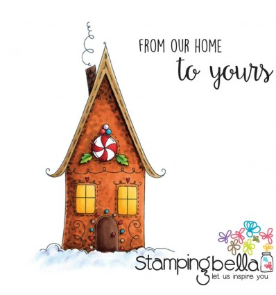Gingerbread House Cling Stempel - Stamping Bella