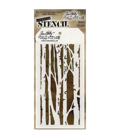 Birch Stencil Schablone - Tim Holtz