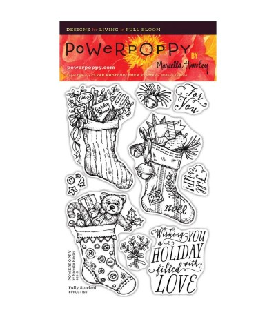 Fully Socked Clear Stamps - Power Poppy