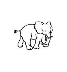 Mini Stempel Elefant