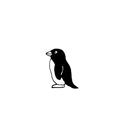 Mini Pinguin Stempel