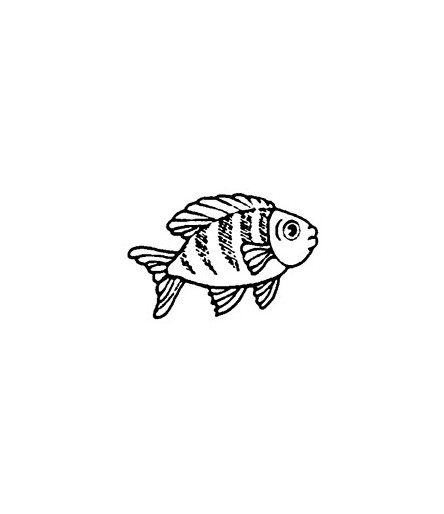 Mini Stempel Fisch