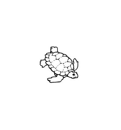 Mini Stempel Wasser-Schildkröte