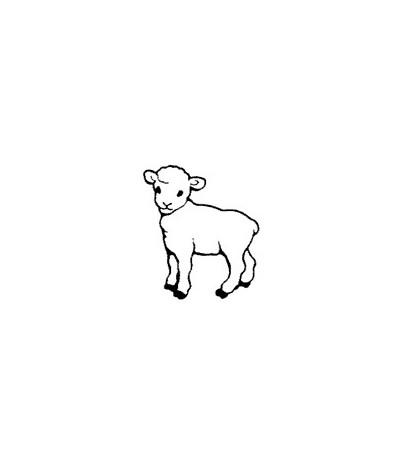 Mini Lamm Stempel