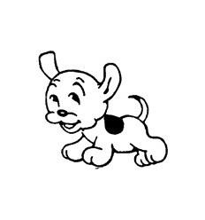 Mini Stempel Hund