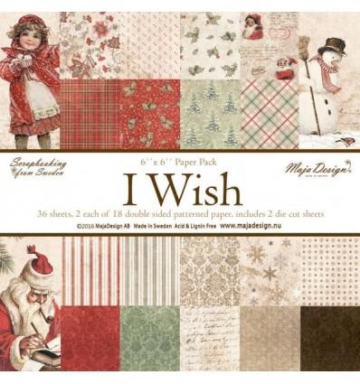 "Maja Design Scrapbooking Papier - I wish - 6"" x 6"""