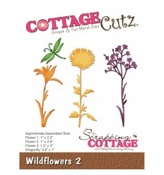 Stanzschablone Wildflowers 2 - Cottage Cutz