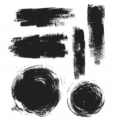 Brushstrokes Cling Stempel Set - Tim Holtz