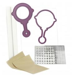 Shaker Card Kit Babyrassel - Cheery Lynn Designgs
