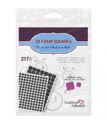 3D-Abstandspads, schwarz, 2 Grössen