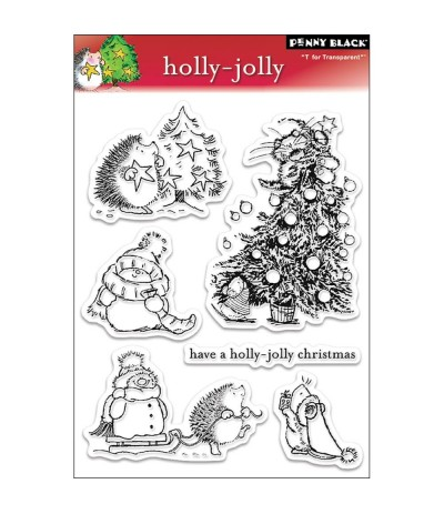 Clear Stamps Holly-Jolly - Penny Black