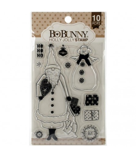 Clear Stamps Holly Jolly - Bo Bunny