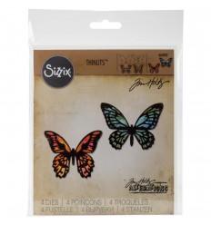 Stanzschablone Mini Schmetterlinge - Sizzix, Tim Holtz