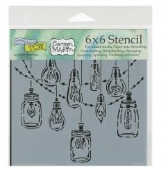 Stencil Schablone Mini Party Lights - TCW
