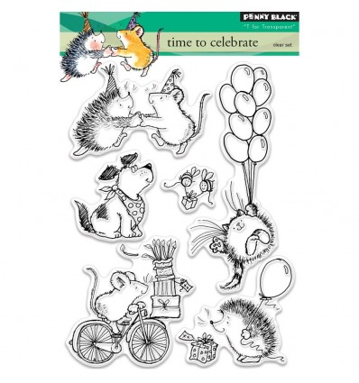 Time to Celebrate Clear Stamps - Penny Black