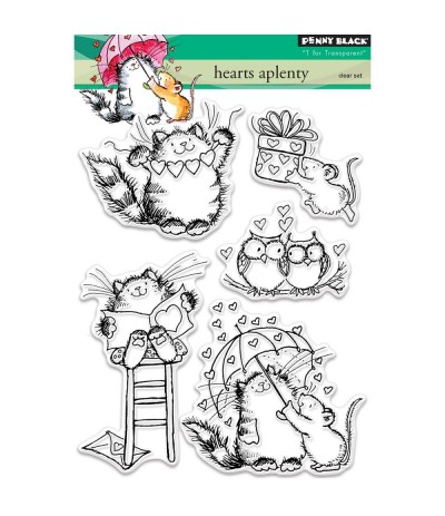 Hearts Aplenty Clear Stamps - Penny Black
