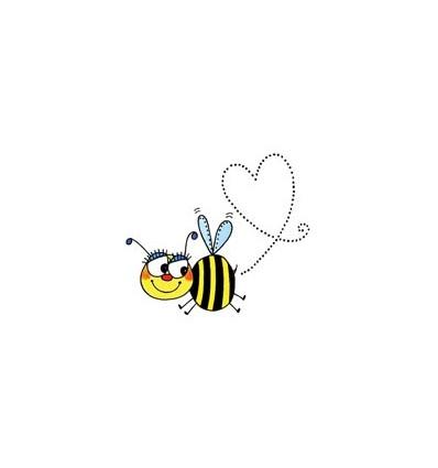 Herz Biene Stempel