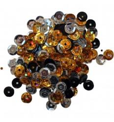 Pailletten Gold, Silber, Schwarz - Clear Scraps