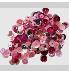 Pailletten Rosa, Pink - Clear Scraps